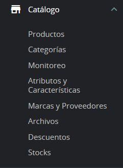 gestion catálogo prestashop
